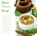 Minestrone Soup With Green Beans, Carrots And Pota Stock Photos - 25246893