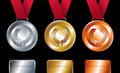 Sport Winners: Gold, Silver And Bronze Medals Stock Photo - 25247140