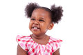 Cute Little African American Girl Laughing Royalty Free Stock Photos - 25247828