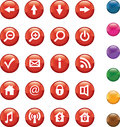 Red Buttons Stock Photos - 25251713