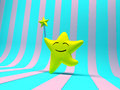 Smiling Star With Magic Wand Stock Photography - 25257852