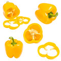 Collection Of Yellow Pepper Stock Images - 25257864