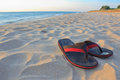 Sandals At The Beach Stock Photo - 25266190