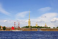 Peter And Paul Fortress. Saint-Petersburg, Russia Royalty Free Stock Photos - 25267708