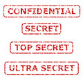 Secrecy Rubber Stamps Stock Photo - 25268400
