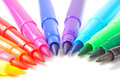 Multicolored Felt Tip Pens Stock Photography - 25270262
