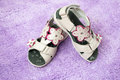 Baby Girl S Sandals Royalty Free Stock Image - 25279046