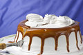 Cream Cake With Caramel Stock Images - 25280164