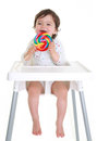 Baby With Lollypop Royalty Free Stock Photos - 25280468