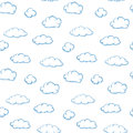 Clouds On White - Seamless Vector Texture Stock Photography - 25282492