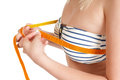 Woman Measuring Her Chest Stock Photography - 25287812