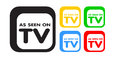 As Seen On TV, Sale. Advertising Icon Set Stock Images - 25290924