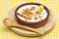 Rice Pudding In A Ceramic Bowl Royalty Free Stock Photography - 25292857