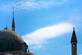 Muslim Minaret And Mosque Silhouette Royalty Free Stock Photo - 25303645
