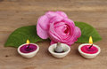 Rose Candles And Incense Stock Image - 25305741