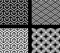 Set Of 4 Vector Abstract Seamless Patterns Stock Photo - 25306370