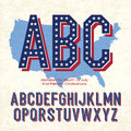 Alphabet For Fourth Of July Royalty Free Stock Photos - 25309478