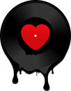 Melted Vinyl Record With Heart Royalty Free Stock Photo - 25309975