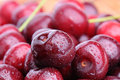 Juicy Cherries With Moisture Drops Royalty Free Stock Photography - 25312187