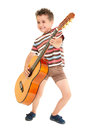 Little Boy Plays Guitar Country Royalty Free Stock Image - 25314296
