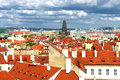 Prague Roofs And Cloudy Sky Stock Photography - 25315142