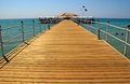 Deck On Resort Beach (Mediterranean Sea, Turkey) Stock Photography - 25320002