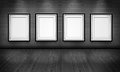 Empty Picture Frames In The Art Gallery Room Stock Photography - 25323082