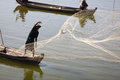 Fisherman Fishing With Nets In Myanmar Royalty Free Stock Image - 25325216