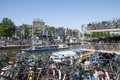 Busy Bicycle Parking Lot In Amsterdam Stock Images - 25336654