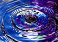 Drops Of Water With Abstract Color Stock Photography - 25345582