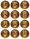 Old Time Clock Hours Royalty Free Stock Image - 25351786