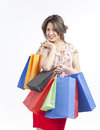 Happy Shopping Girl Royalty Free Stock Photography - 25354297
