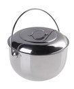 Stainless Steel Pot With Top Cover Royalty Free Stock Images - 25360049