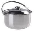 Stainless Steel Cooking Pot With Top Cover Stock Image - 25360061