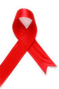 Red Support Ribbon On White Background Royalty Free Stock Images - 25366839