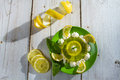 Lemon Sour Dessert Made ​​of Jelly Stock Photography - 25368062
