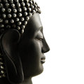 Buddha Head Profile Isolated Royalty Free Stock Photography - 25369577