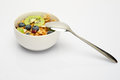 Spoon On Bowl Of Cereal Breakfast Royalty Free Stock Photos - 25371828