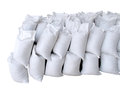 Pile Of White Sacks Full With Sand And Rock Royalty Free Stock Image - 25377156