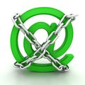 Green Metallic AT Symbol Chains Stock Images - 25378244