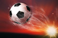 Soccer Ball Flying Royalty Free Stock Photos - 25383518