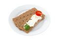 Toasts With Cream Cheese Royalty Free Stock Image - 25393556