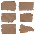 Torn Cardboard Pieces Set Stock Images - 25395464