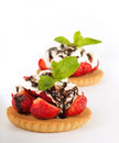Strawberry With A Mint And Cup Of Coffee, Summer F Royalty Free Stock Photo - 25400995