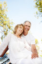 Happy Mature Couple Outdoors Royalty Free Stock Photos - 25401198