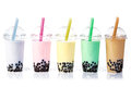 Bubble Tea In A Row Royalty Free Stock Image - 25401616