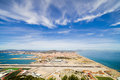 Gibraltar Airport Runway And La Linea Town Royalty Free Stock Image - 25402826