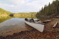 White Canoe Wilderness Royalty Free Stock Photography - 25408147