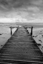 Black And White Wooden Bridge Royalty Free Stock Images - 25411089