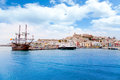 Eivissa Ibiza Town With Old Classic Wooden Boat Royalty Free Stock Image - 25412026